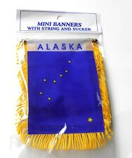ALASKA MINI POLYESTER US STATE FLAG BANNER 3 X 5 INCHES