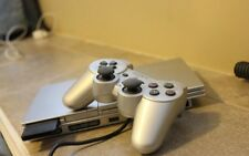 Silver PS2 Slim Console Bundle With 15 Games, 2 Controllers, Memory Card, Cables