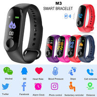 M3 Bluetooth Waterproof Smart Watch Bracelet Heart Rate Monitor Fitness Tracker#