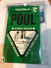 Tournament Pool Snooker Games Rules Shooting Basics & Cue Table Care by FORMULA