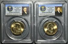 (2) 2007/2008 PCGS PRESIDENTIAL DOLLARS- MONROE(MS 66) & MADISON(MS 65), LI30