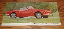 Original 1963 Triumph Spitfire Foldout Sales Brochure 63