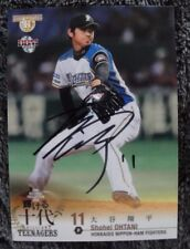 SHOHEI OHTANI OTANI ON CARD AUTO 2014 BBM JAPAN  AUTOGRAPH RC