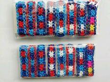 8 x child's bracelets ~ hand made bracelets loom band bracelet party bag favour