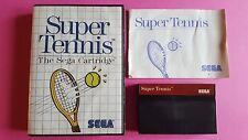 SUPER TENNIS / jeu en boite + notice MASTER SYSTEM SEGA / PAL