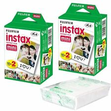 50 Fuji Instax Mini Film POUR 90, 50, 25, 8, 7s, 7 Instantanée Caméras