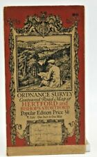 Ordnance Survey Map Hertford & Area. Scale 1 inch to 1 mile. Pub.1923. Ref 96