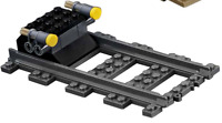 LEGO City Cargo Train 60198 Buffer end stop with 1 straight track