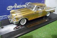 STUDEBAKER GOLDEN HAWK 1957 Or gold au 1/18 ANSON 30384 voiture miniature