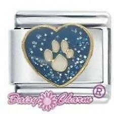 DAISY CHARM by JSC Italian Charm - BLUE HEART WITH PAW