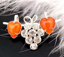 Strassbrosche - Crystal/Orange Opal - Unikat aus Gablonz/Böhmen - swa298