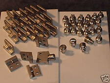 aircraft hardware Dzus studs & cockpit panel receptacles  48 pcs. slotted head