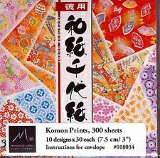 Japanese Washi Chiyogami Origami Paper 3 inches 300 sheets S-3587