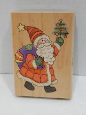 1996 Stampendous Country Santa P027 Fun Stamps Rubber Stamp