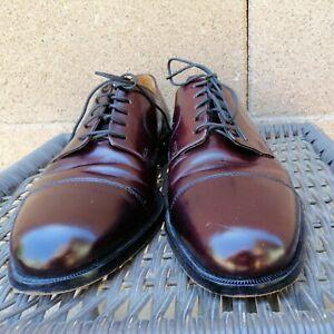 Cole Haan Lexington Men's Burgundy Cap Toe Derby Dress Shoes Size 10.5