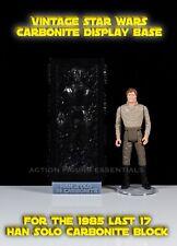 Star Wars Han Solo Carbonite Display Stand Vintage Last 17 POTF Base No figures