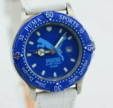H810 Vintage Puma Blue Analog Quartz Watch HE7310-00 CA Original JDM Japan 1.3