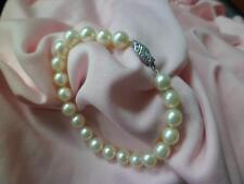Ladies 14k yellow 7.5mm Cultured Pearl A  Quality bracelet 7""