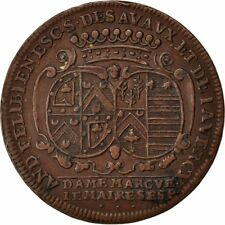 [#59090] France, Royal, Token, 1697, Au(50-53), Copper, Feuardent #9325, 7.58