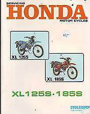 HONDA  XL125S XL185S  SERVICE REPAIR WORKSHOP MANUAL  1980
