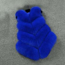 Womens Slim Vest Gilet Outwear Warm Faux Fox Fur Waistcoat Jacket Coat Plus Size