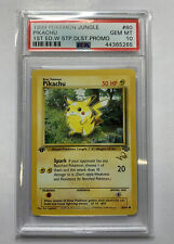 PSA 10 Pikachu 1st Edition Gold W Duellist Stamp Promo Jungle 1999 Gem Mint