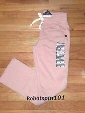 NWT Abercrombie & Fitch Women Skinny Logo Sweatpants Pants M Light Pink