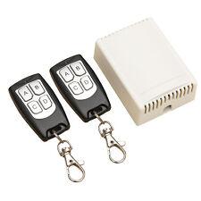 DC 12V 4-Kanal-200M Wireless Funk-Fernbedienung Schalter 2 Sender + Empfaenger G