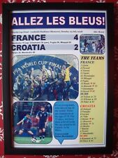 France 4 Croatia 2 - 2018 World Cup Final - framed print