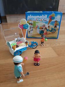 Playmobil 9426 70093 Fahrrad mit Eiswagen Familienfahrrad