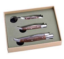 3 Stück LAGUIOLE Klappmesser Taschenmesser NEU+OVP im Geschenk-Set