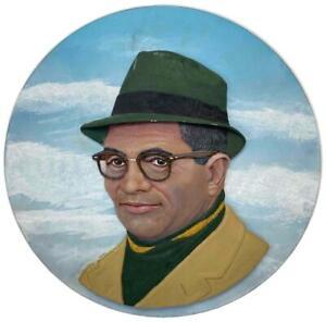 RARE Armand LaMontagne Vince Lombardi Football Carved Wood Bust Statue Plaque