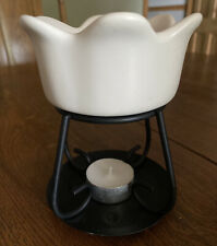 Yankee Candle Petal Bowl Melt Warmer Oil Wax Melt Burner & Stand ~Aromatherapy~