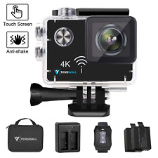 """4K Sport Action Camera, Tenswall Ultra HD 2"""" Touchscreen Underwater Cam 16MP for"""