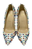 CHRISTIAN LOUBOUTIN 'PIGALLE' CANDY COLORED SPIKES PUMPS, 39.5, $1350