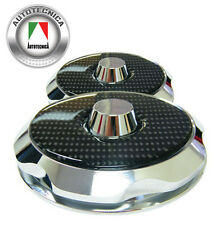 BILLET STRUT TOP COVERS WITH CARBON INSERTS HOLDEN COMMODORE VT VX VY VZ VE VF