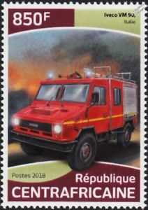 IVECO VM 90 Italian/Italy Fire Engine Truck Van Vehicle Stamp (2018)