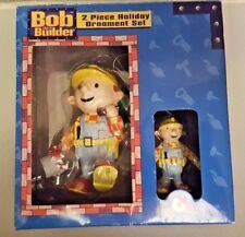 Kurt S. Adler Bob The Builder 2 Piece Holiday Ornament Set