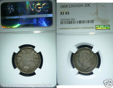 1858 Canada(20) Twenty Cents.NGC XF45