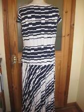 Plus Size Geometric Crew Neck Full Length Dresses for Women
