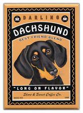 Retro Dogs Refrigerator Magnets: DACHSHUND | COFFEE | Vintage Advertising Art