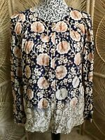 Womens ANTHROPOLOGIE MAEVE Longsleeve Blouse Top Shirt Size Medium M