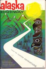 Alaska Highway Road To Yukon Adventure Ottawa Canada Britsh Columbia Vintage 60S
