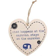 What happens at the caravan stays at the caravan heart wall plaque