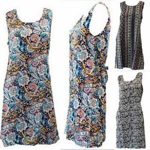 NEW Ladies Women Beach Summer  Floral Sleeveless Dress Bikini Cover Up Tie Back