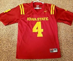 NIKE TEAM IOWA STATE CYCLONES FOOTBALL JERSEY #4 SIZE YOUTH SMALL 6
