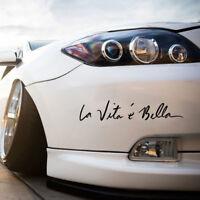 Word Car Sticker Window Door Decal Decor Vinyl Life is Beautiful La Vita E Bella