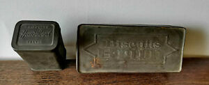 2 boites rétro en fer - 1 Produits Heudebert et 1 Biscuits Brun