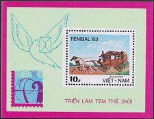 VIETNAM Bloc N°5** Bf Chevaux Malle-Poste, 1983 Vietnam 1298 Horses Sheet MNH