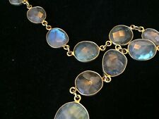 "$1500 Rivka Friedman Glowy Labradorite Opal-Like Gem Ippolitan 32"" Necklace #1"
